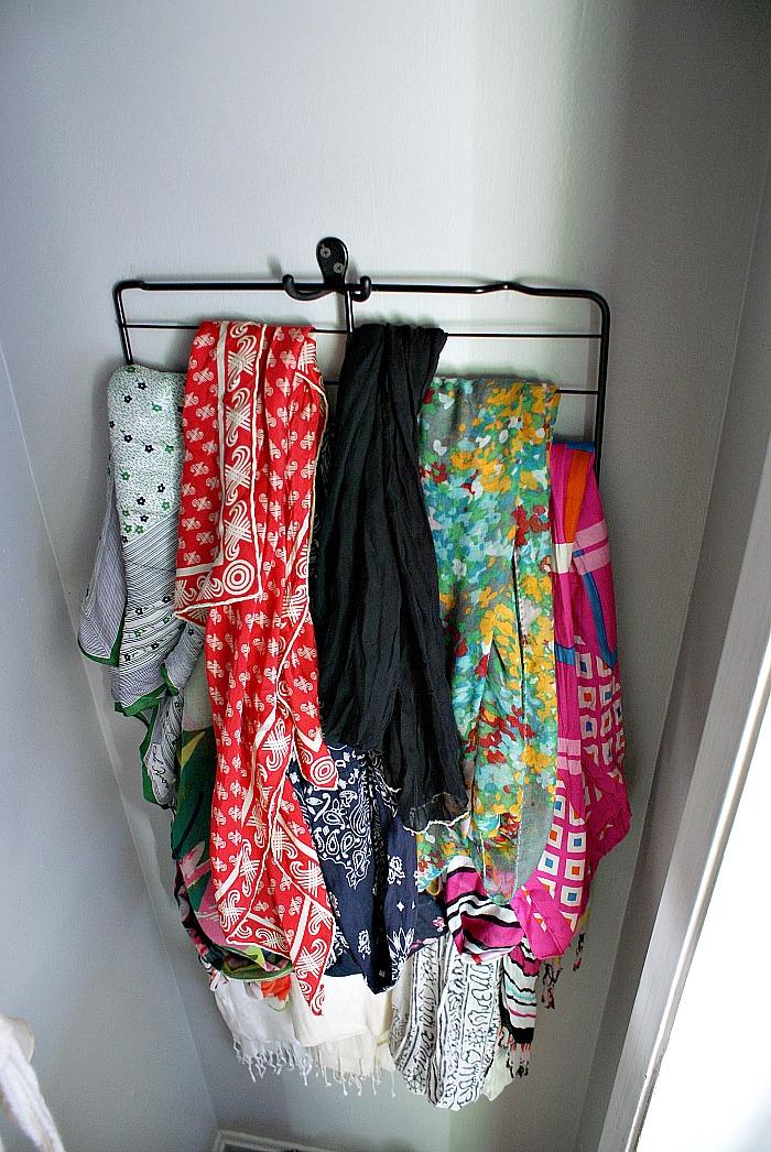 oven rack for storing scarves