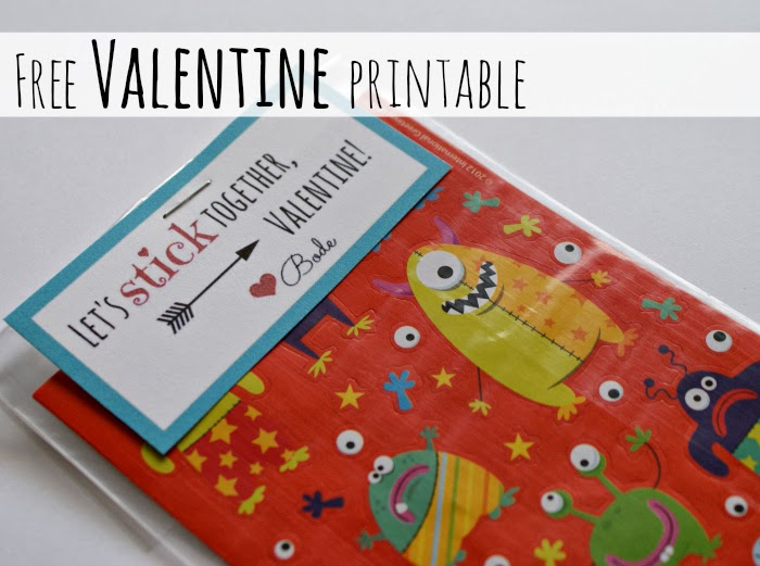 Free Valentine's Day Favor Printable