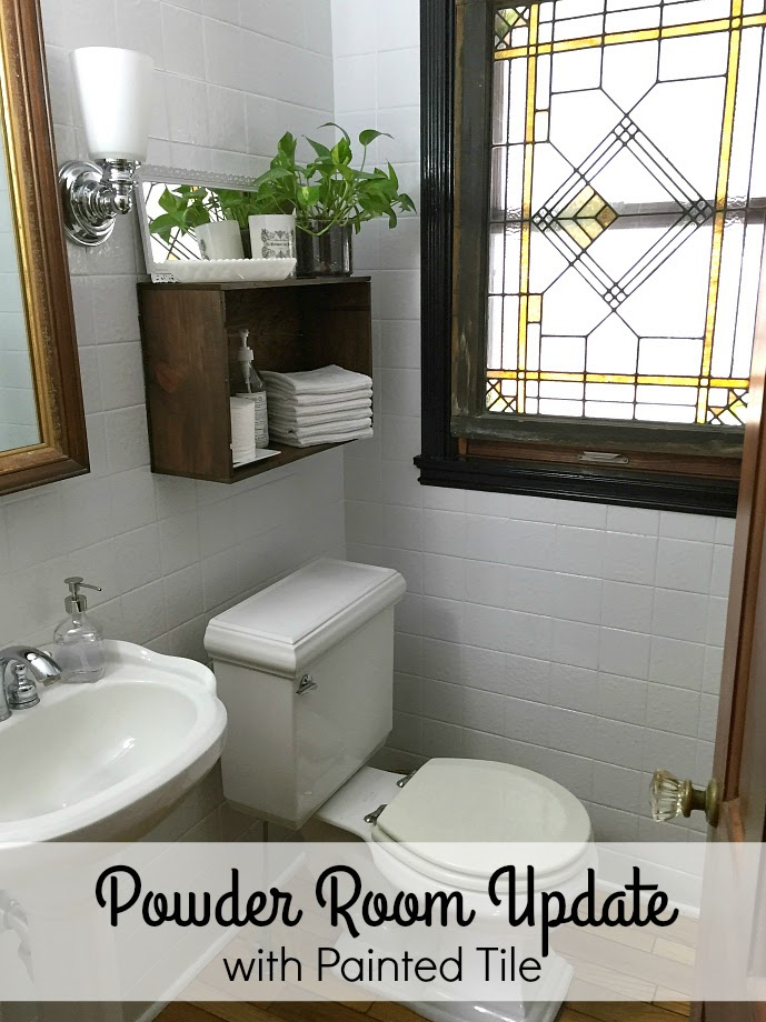 Transforming a dated bathroom with painted tile