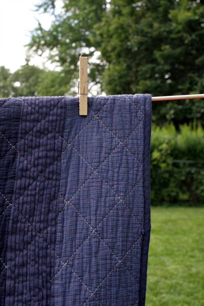 diy overdyed quilt