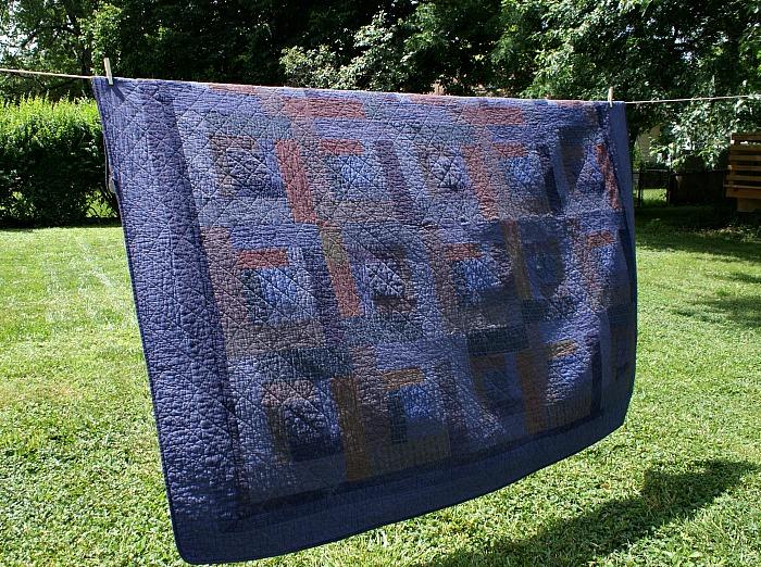 diy overdyed quilt using Rit dye