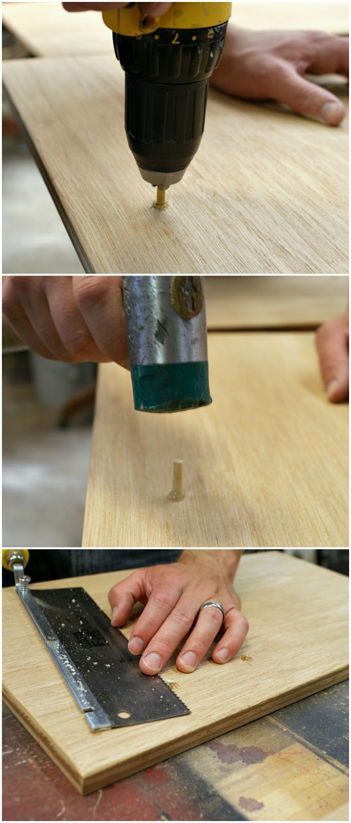 turn a cabinet door into a nightstand