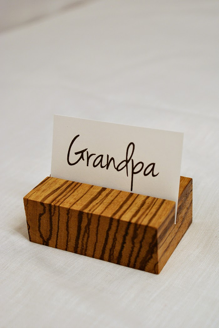 How to Make Wooden Place Card Holders Tutorial