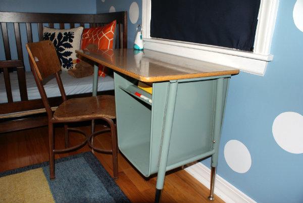 Vintage School Desk Before