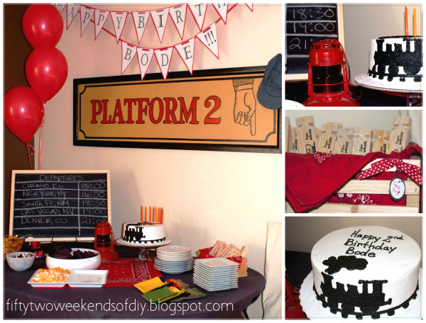 Vintage Train Theme Birthday Party