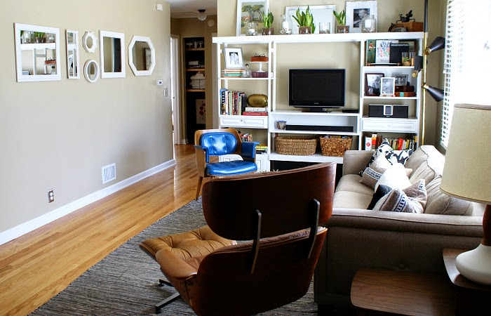 modern eclectic living room makeover