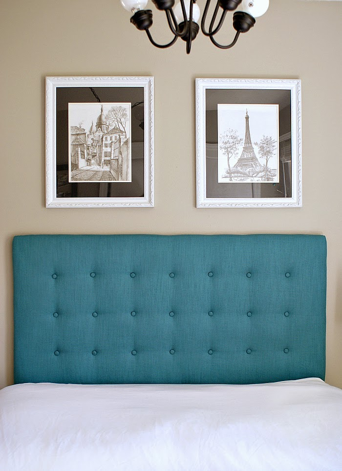How to tuft a headboard, teal tufted headboard